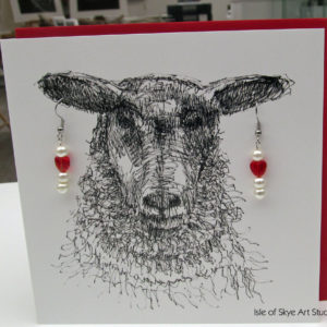 Cards with Earrings or Brooches
